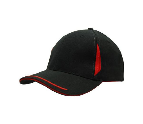 Cap 4098 black red