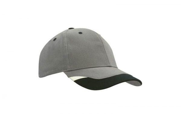 Cap 4125 charcoal black white