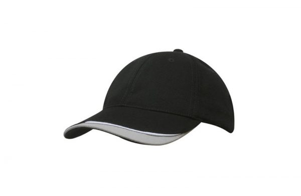 Cap 4167 black white grey