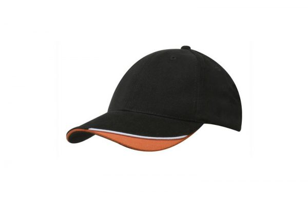 Cap 4167 black white orange