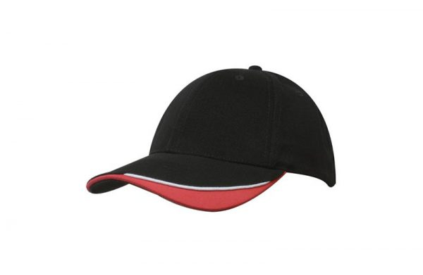 Cap 4167 black white red