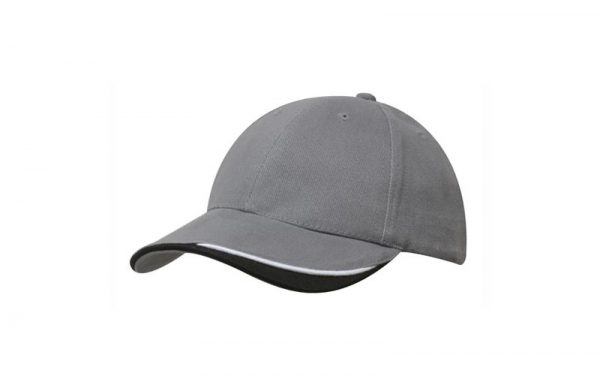 Cap 4167 charcoal white black