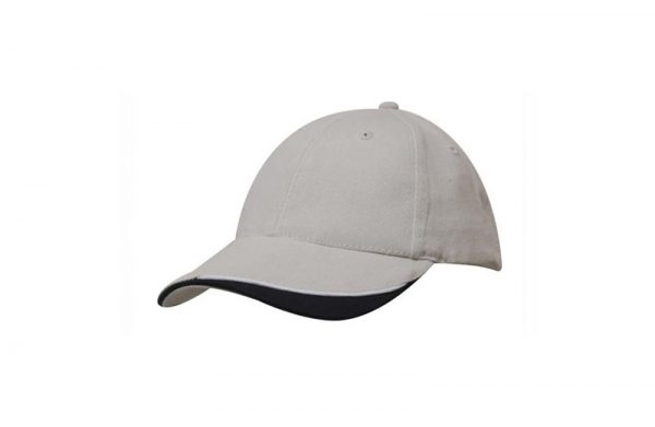Cap 4167 stone white black